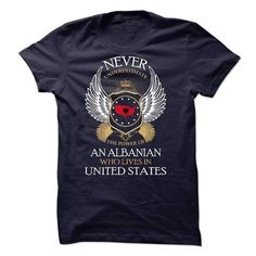 ALBANIAN IN UNITED STATES!! - #blusas shirt #cheap sweater. OBTAIN => https://www.sunfrog.com/States/ALBANIAN-IN-UNITED-STATES.html?68278