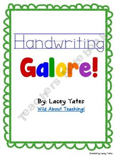 Handwriting Galore-D'Nealian.  I love this pic, thanks!  Have a look at these 6 AMAZING D'NEALIAN FONTS at  http://tpt-fonts4teachers.blogspot.com/2013/02/top-6-dnealian-fonts-to-practice.html