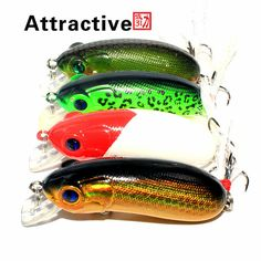 Attractive 4pcs 6cm 10g Crankbait Fishing Lure Artificial Fishing Bait Fishing Lures Carp Fishing Tackle Crank Swim bat Bal?k tutma yemler recreational fishing <3 AliExpress Affiliate's Pin. Clicking on the VISIT button will lead you to find similar product