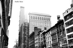 Historic Architecture including the Flat Iron Building on W. 23rd St in New York, fine art photography by HeatherMariaPhotos on Etsy