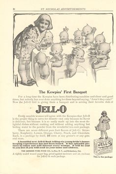 Rose O'Neill illustrated ad for Jell-O
