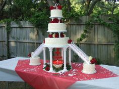 Fountain Cake 3 Tier And Sidesjpg