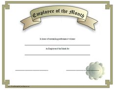 Free employee of the month template for employee recognition in this silver grey certificate recognizes an employee of the month free to download and print toneelgroepblik Images
