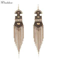 Bohemia Vintage Fringes Tassel Drop Earrings