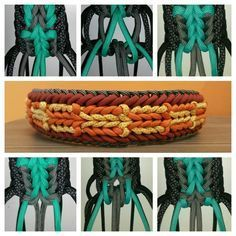 Rocco's Love   Swiss Paracord--4 color, picture tutorial. Love the way the endless falls switches color.