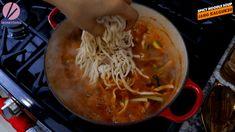 Jang Kalguksu, Korean Spicy Noodle Soup Recipe & Video - Seonkyoung Longest Spicy Noodle Soup Recipe, Noodle Recipes, Soup Recipes, Tteokbokki Recipe, Korean Food, Korean Recipes, Chili Pepper Paste, Yukon Potatoes, Seonkyoung Longest