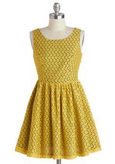 For Gold Times Sake Dress, #ModCloth
