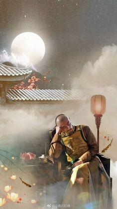 Handsome Asian Men, Chinese Man, Drama Series, Hanfu, Palace, China, Painting, Painting Art, Paintings