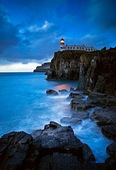 ✯ The Blue Nest - Neist Point Lighthouse - Isle of Skye, Scotland Landscape - Nature - Travel - Photography - Color ✔ Places Around The World, The Places Youll Go, Places To See, Around The Worlds, Beautiful World, Beautiful Places, Wonderful Places, Magic Places, Photos Voyages