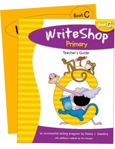 WriteShop Primary C Set (PRINT or ebook): Teacher's Guide and student Activity Pack. Homeschool curriculum for grades 2-3.