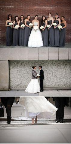 dark grey bridesmaid dresses