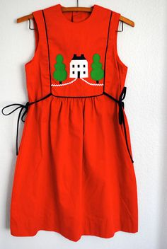 vintage 1970s house dress