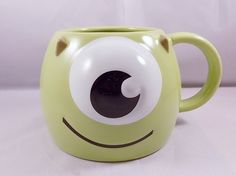 How can you resist smiling when you see this Disney Monsters Inc character mug? Disney Monsters Inc Mike Wazowski Coffee Mug Cup Disneyana New In Box