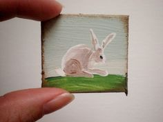 Meadow Rabbit Dollhouse Original Painting 1 by cinderellamoments, $6.00 sold