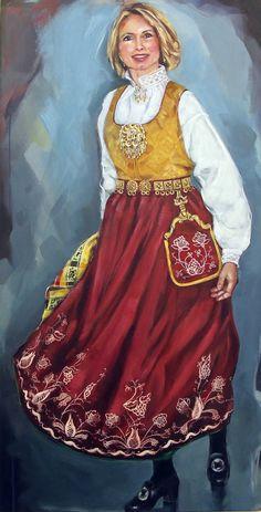 Kvinne i Follobunad. Folk Costume, Costumes, Norse Pagan, Culture Travel, Folklore, Norway, Illustrator, Doll, Traditional