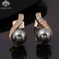 Cheap earring angel, Buy Quality earrings zebra directly from China earrings lock Suppliers: Italina Rigant Rose Gold Plated Elegant Simulated Pearl Earrings Brincos de perola with Genuine Austrian Crystal Cheap Earrings, Professional Wear, Pearl Drop Earrings, Austrian Crystal, 18k Rose Gold, Plaque, Rose Gold Plates, Plating, Vogue
