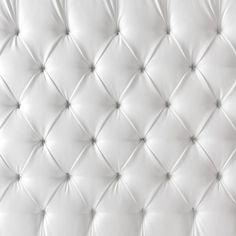 tufted white leather pattern - bruk som tapet på soveromsvegg