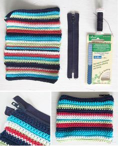 Crochet Mini Pouch - Tutorial