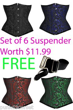 Fully Steel Boned Real Authentic Candy Underbust Corset in many Shade of Brocade $39
