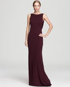 ABS by Allen Schwartz Long Dress - Boat Neck Sleeveless | Bloomingdale's