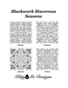 Cross Stitch Pattern Cat PDF  Blackwork Biscornus by arcadecache, $8.95