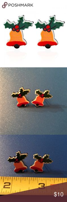 Christmas Bell Earrings Christmas bell stud earrings. Bundle discount available. No trades Jewelry Earrings