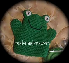 bath crochet frog puppet, marioneta rana de baño a ganchillo at malonaalona.com
