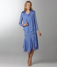 S.L. Fashions Beaded Jacket Dress   Dillards.com