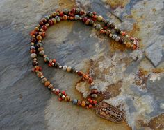 Copper Blessing Buddha Necklace with Picasso by Ginny Wolf Studio  http://www.etsy.com/shop/GinnyWolfStudio