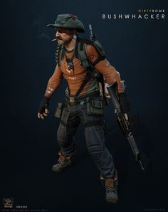 Bushwhacker - Dirty Bomb, Jonathan Fletcher on ArtStation at https://www.artstation.com/artwork/bushwhacker-dirty-bomb