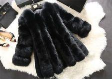 Women Fur Long Sleeve Winter Faux Fox Fur Coat Jacket Winter Outerwear Female