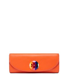 Orange Tory Burch Emma Clutch