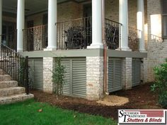 Under Porch True Louver Panels - a nice alternative to lattice ...