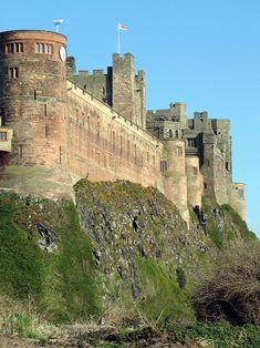 Bamburgh Castle, northeast England, built between 450-500 AD.