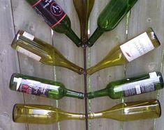 Beer Bottle Tree The Bottle Cap   Etsy Beer Bottle Crafts, Beer Bottles, Glass Bottles, Wine Bottle Trees, Bud Lite, Painting Templates, Brown Bottles, Bottom Of The Bottle, Bottle Garden