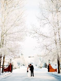 Winter wedding.