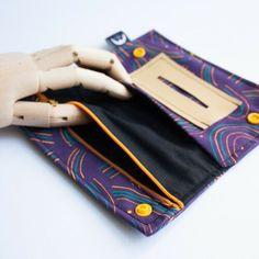 PORTATABACCO-A-CLIP-BORSELLO-COTONE-ASTUCCIO-cartine-design-handmade-MAUSCARF Sewing Ideas, Continental Wallet, Mom, Ebay, Totes, Patrones, Accessories, Crafts, Bricolage
