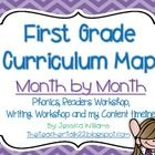 Right now this curriculum map is NOT finished. However, each month I will be updating it with the concepts that we are covering with-in my classroo. Kindergarten Curriculum Map, First Grade Curriculum, Curriculum Mapping, School Plan, School Ideas, Thematic Units, Classroom Management, Teaching Resources, Lesson Plans