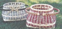 """Great Island Floor Basket"" pattern by Marybeth Skillings.  Love the colored reed!"