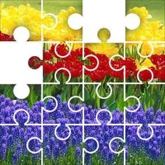 Flower Beds Jigsaw Puzzle, 48 Piece Classic.