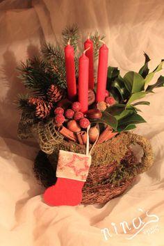 rustic Christamas decor advent wreath