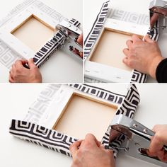 A Ridiculously Easy Way to Make Custom Canvas Wall Art is part of Diy canvas art - Let's get real Painting is not for everyone Canvases, however, are Fabric Canvas Art, Diy Canvas Art, Canvas Crafts, Custom Canvas, Diy Wall Art, Diy Wall Decor, Diy Art, Canvas Wall Art, Canvas 5