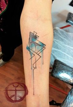 Watercolor tattoo by the Urbanist Lab