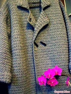 Добрый день ))) Наконец-то готово моё пальто. Получилось очень тёплое и уютное. Очень оно мне нравится ))) Пряжа Alize Lanagold, крючки №5 и №6. На мой размер (52-54) ушло 12 мотков по 240 метров.