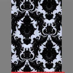 Black & Silver Ponyskin Heirloom Velvet Flocked Wallcovering design by Burke Decor