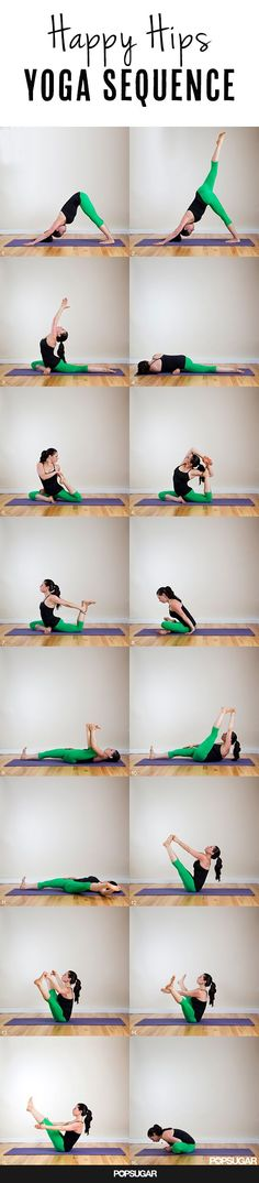 Happy Hips #Yoga Sequence - good for runners! #fitness #health #flexibility