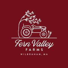 Logo Design for Fern Valley Farms in Wilbraham, MA - rustic, farmy, country, tractor, apples, apple orchard Farm Logo, Logo Design, Graphic Design, Apple Orchard, Handmade Design, Ferns, Tractor, Apples, Told You So