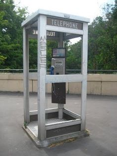 Old Phone Booth - yes these were everywhere - pretty much ~~And only a dime to call someone.