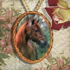 Chestnut Horse Warmblood Horse Jewelry by NobilityCatsandPets, $34.90
