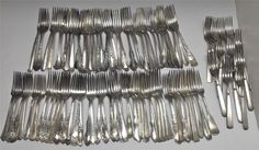 Vintage Silver Plated Silverware Flatware Craft Lot 93 Assorted Dinner Forks #MixedBrands